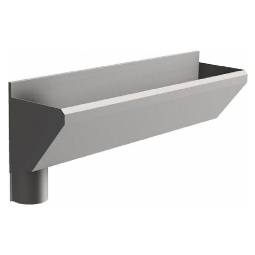 2 User 1600mm H&L Surgeons Scrub Trough Sink - HBN 00-10 & HTM 64 - Splashback, Left Hand Waste
